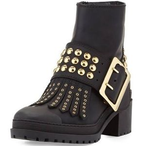 🔥💥 Burberry Studded Leather Black Boots 💥🔥